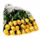 20 szál sárga rózsa kötegben