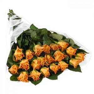 20 szál narancs rózsa kötegben