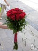 20 szál gyönyörű bordó rózsa
