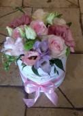 Rózsaszín virágdoboz
